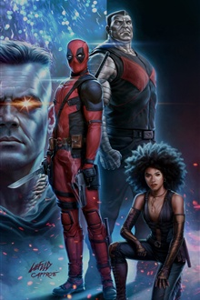 Deadpool 2 iPhone Wallpaper Preview