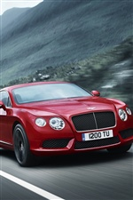 Красный Bentley Continental GT V8 автомобиль iPhone обои