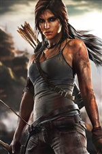 Lara Croft Tomb Raider в игре iPhone обои