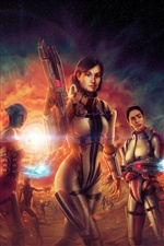 Mass Effect 3 CG девочек iPhone обои